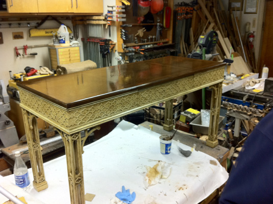 Antiquing Table